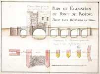 Elargissement du pont 1780